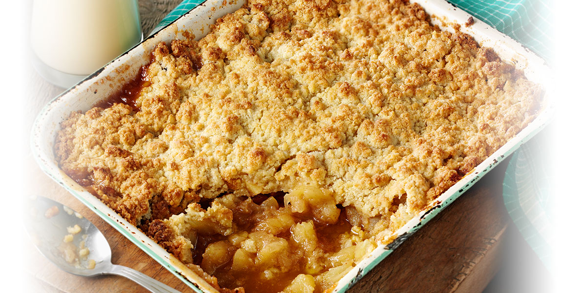 Lyle's warming apple crumble