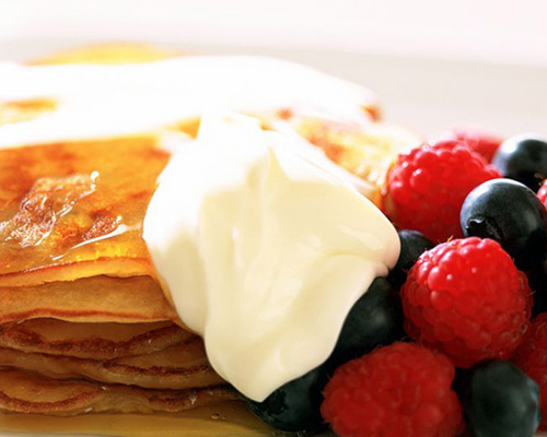 Lyle's golden pineapple and coconut pancakes