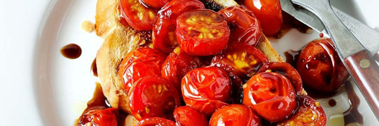 Lyle's sweet chilli tomatoes on toast