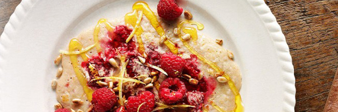 Lyle's Dairy-Free Oat Raspberry Pancakes