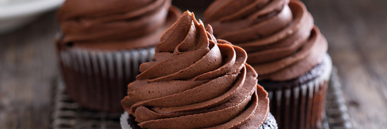 Lyle's Chocolatey Fudge Cupcakes
