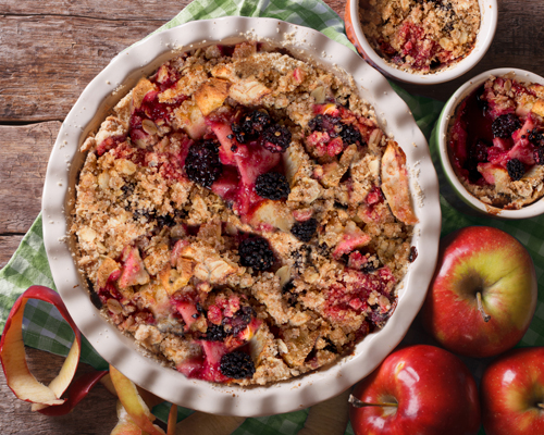 Lyle's Apple & Blackberry Crumble