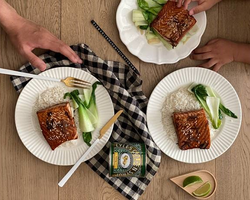 Lyle's Golden Syrup-Soy Glazed Baked Salmon