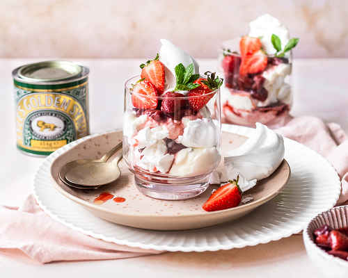 Eton Mess with Roasted Strawberries