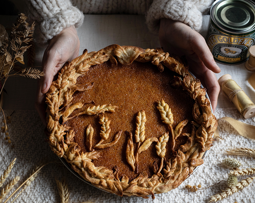 Ginger and Orange Treacle Tart