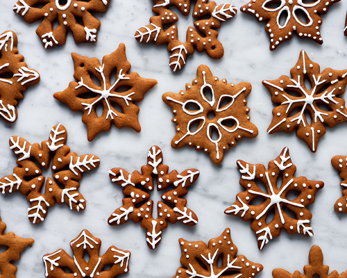 Spiced Biscuit Snowflakes